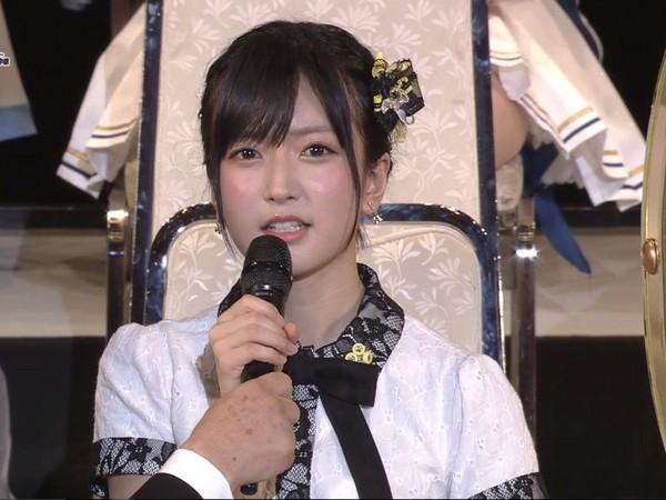 ▲須藤凜凜花在AKB48總選舉中宣布結婚。(圖/取自推特)