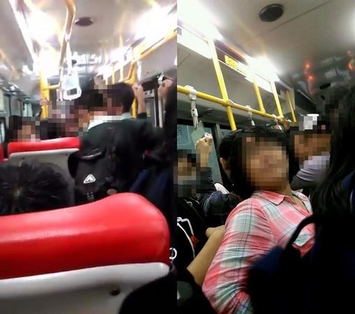 ▲因公車擁擠不慎被夾到,婦人遷怒整車學生還人身攻擊。(圖/翻攝自爆料公社)