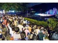 鯉魚潭玩一夏 紅面鴨7月亮相韻律噴泉水幕劇場續登場