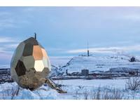 賞極光還可享芬蘭浴 瑞典世界盡頭新景點「金蛋桑拿」