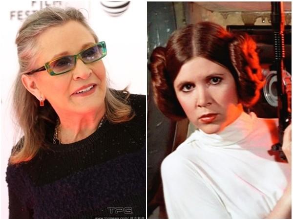 「莉亞公主」嘉莉費雪(Carrie Fisher)。(圖/達志影像、《星際大戰》劇照)