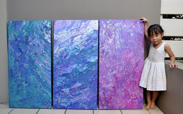 珍版梵谷 澳洲5岁女童抽象画作爆红