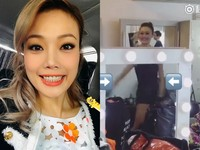 容祖兒熱舞露美腿性感扭臀 「背後鏡反射」露餡了!
