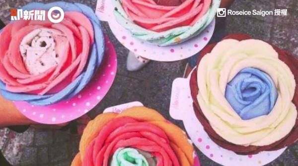 炎熱的夏天就是要吃冰啊!網友@roseicesaigon在IG上傳了一則影片,內容是有家冰店專門賣「玫瑰花冰淇淋」,將冰做成玫瑰花的樣子,讓每個拿到冰的女生「少女心噴發」!(圖/ETNEWS)
