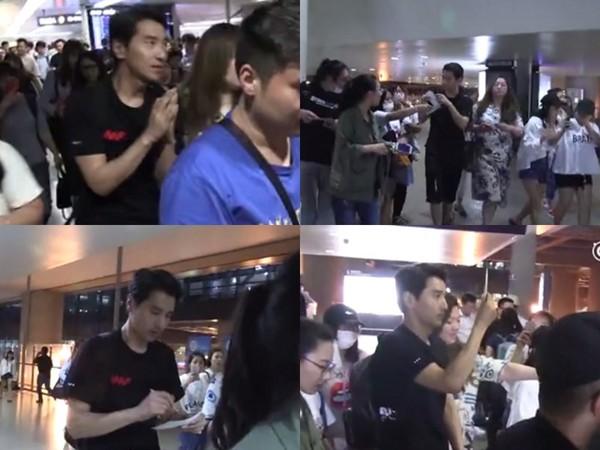 ▲趙又廷「深夜機場」貼心簽名被讚大暖男。(圖/翻攝自《王牌星探》微博)