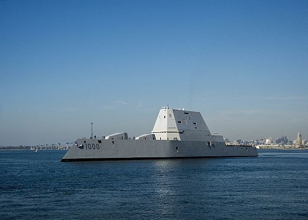 ▲朱瓦特號驅逐艦(USS Zumwalt (DDG-1000))是美國海軍朱瓦特級驅逐艦的首艦。(圖/翻攝自美國海軍)