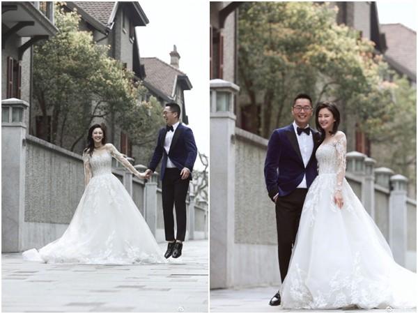 張雨綺婚後8個月懷孕 「神秘婚紗照」終於公開。(圖/翻攝自張雨綺微博)