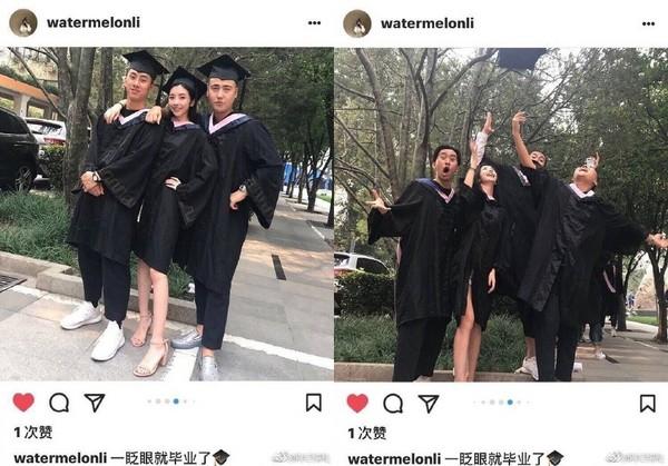 ▲豆得兒畢業照吸引百萬人熱搜。(圖/翻攝自微博)