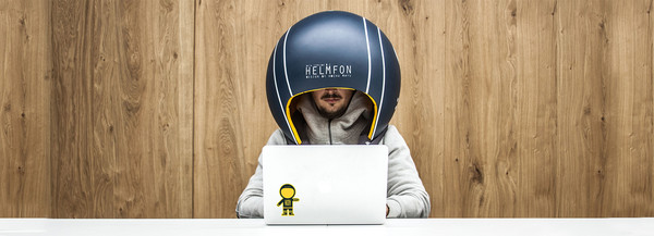 ▲hochu rayu設計出Helmfon抗噪頭盔。(圖/翻攝designboom)
