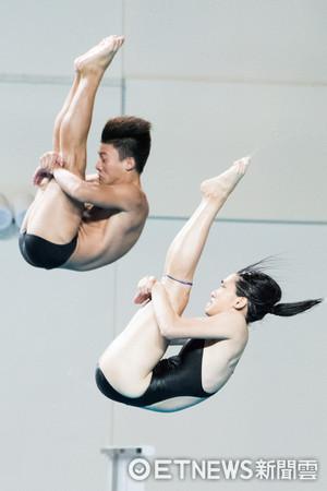 ▲▼世大運跳水測試賽,林昀蒂,賴昱燕。(圖/記者季相儒攝)