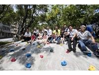 竹市綠園道二期啟用 微笑溜滑梯成焦點
