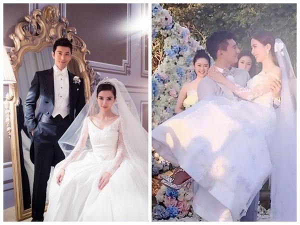 ▲Angelababy與劉詩詩結婚時皆穿Jimmy Choo做婚鞋。(圖/翻攝自read01.com)