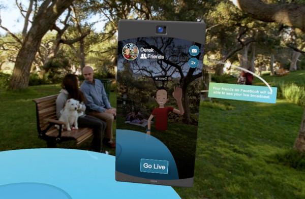 虛擬角色也能秀一波!Facebook Spaces社群可支援直播功能。(圖/翻攝自官網)