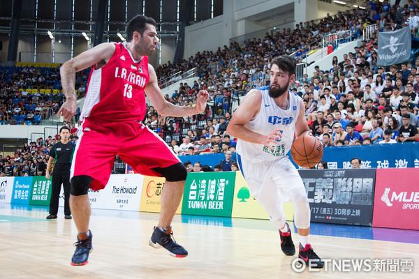 ▲▼瓊斯盃男籃,中華白對伊朗,凱爾。(圖/記者季相儒攝)