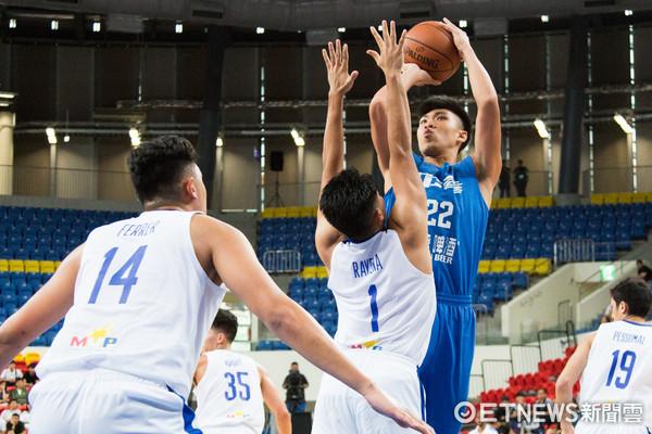 ▲▼瓊斯盃男籃,中華白對菲律賓,黃泓瀚。(圖/記者季相儒攝)