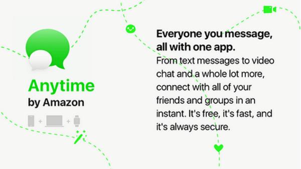 ▲▼ 聊天兼購物? Amazon進軍通訊軟體推出Anytime(圖/翻攝 AFTNews)