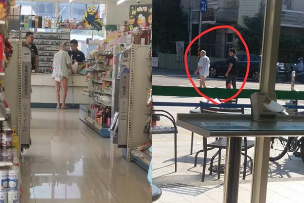 ▲失智爺爺穿尿布到超商買牛奶 暖心店員一路護送他回家。(圖/記者柯沛辰攝)