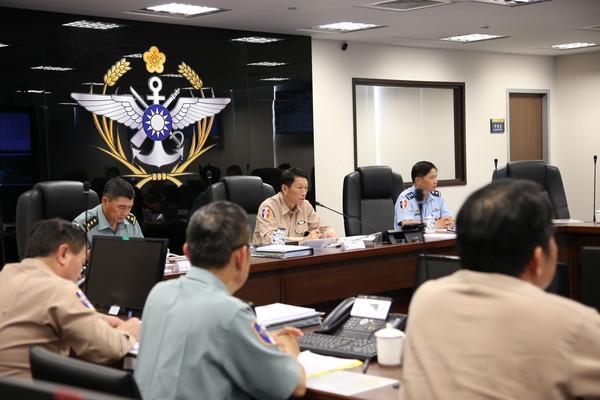 ▲▼參謀總長李喜明上將昨日主持國防部災防整備會議。(圖/國防部提供)