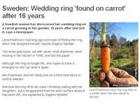 婚戒失蹤16年 從胡蘿蔔長出來!