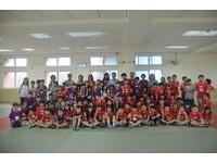 暑假期間兒童少年參訪 南市警五分局與孩童同樂