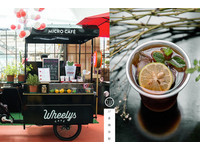 台北市集裡的北歐風綠能智慧咖啡車 喝得到手沖咖啡!