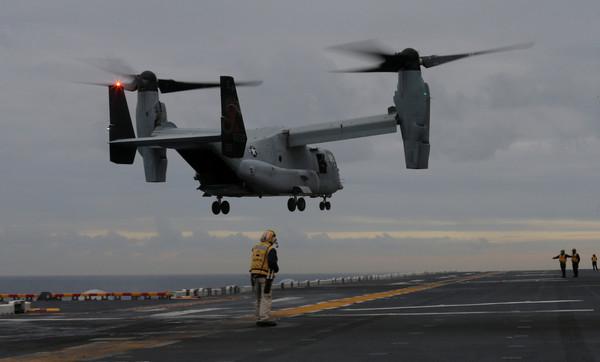 ▲▼美魚鷹機墜毀澳洲外海3人失蹤。(圖/路透社)