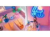 美拍粉紅色泳池完全解悶!海洋派對風冰店成暑假熱話題