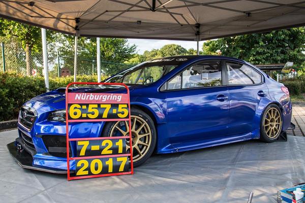 ▲地表最速房車巴掉大牛!Subaru WRX STI NBR改寫紀錄。(圖/翻攝自Subaru)
