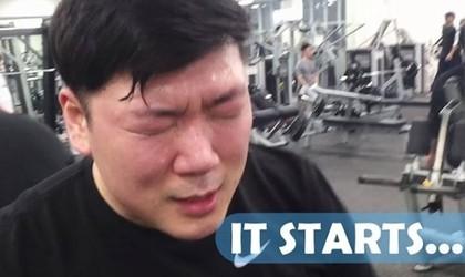 ▲鮪魚肚大叔日練3小時 23周後長出六塊肌「帥度逼韓星」。(圖/翻攝mykoreanhusband IG)