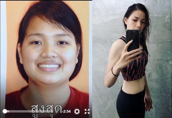 「想交男朋友」胖妹單身24年 甩50公斤變超正炫腹女神。(圖/翻攝自LeeAng Perry的推特)
