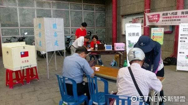 ▲投票首日有上百位民眾前往投票。(圖/桃園市青年事務局提供)