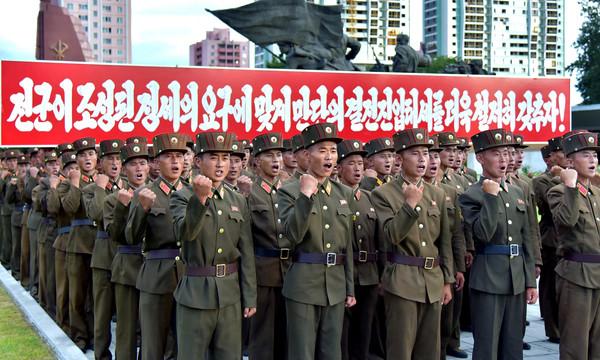▲北韓宣稱有350萬人願意加入軍隊對抗美國。((圖/CFP)