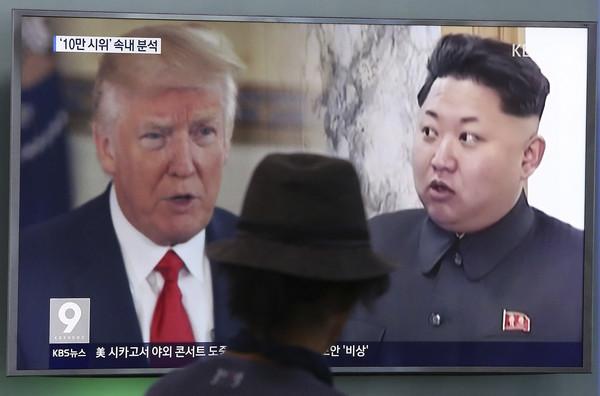 ▲美國總統川普(Donald Trump)、北韓領導人金正恩。(圖/達志影像/美聯社)