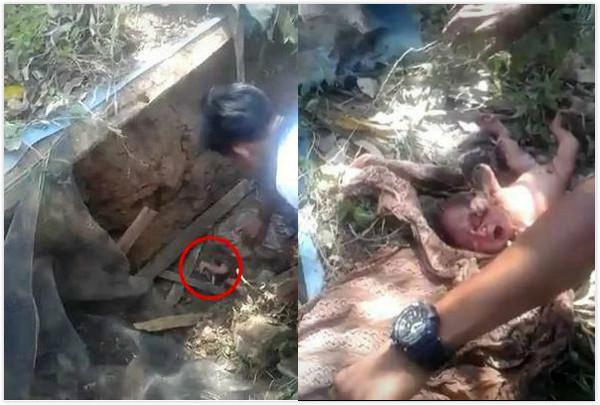 ▲小寶寶才剛出生,就被丟入化糞池。(圖/翻攝自臉書/Alhaji Deen)