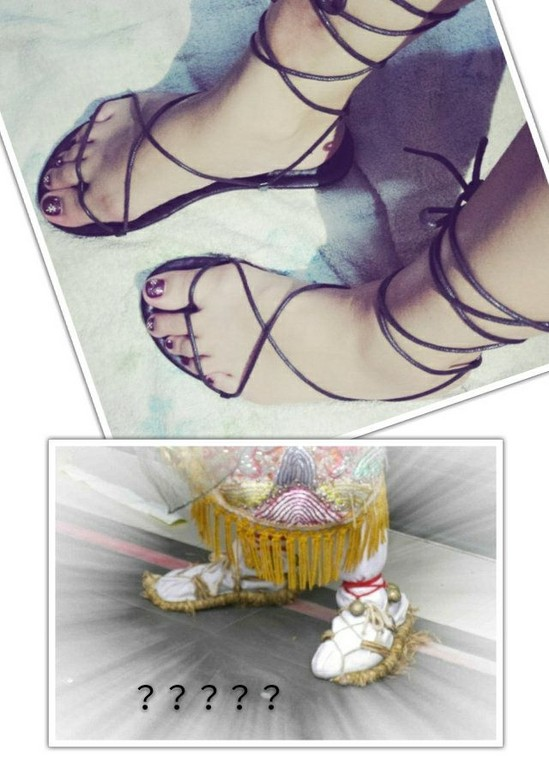 ▲綁帶涼鞋 。(圖/翻攝自《美妝公社》)