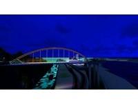 花蓮港景觀橋整建12月再進化! 夜間將增七彩變化LED光雕