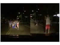 洋選手醉躺路中央「比手勢嗆聲」 居民全都錄:不想再忍了