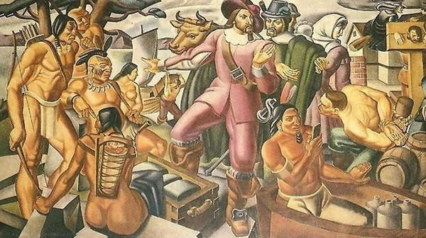 ▼壁畫全貌。(圖/翻攝自臉書/Ufólogo Jaime Rodríguez T.)