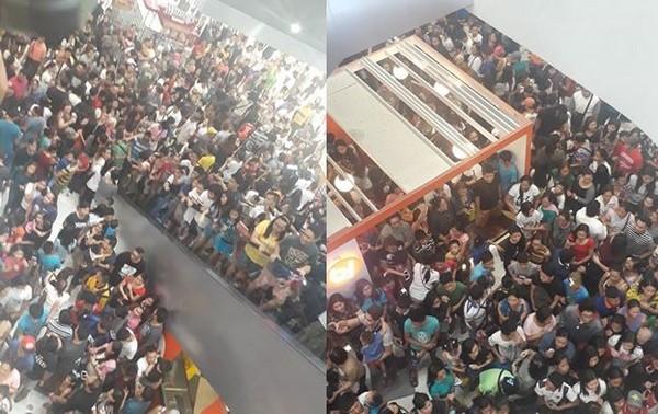 ▲為搶吃5元漢堡 千人推擠爭80名額「殭屍末日來了!」。(圖/Pauline Cabal Estrada臉書)