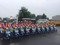 台南市力推電動車 「環保騎士隊」上路