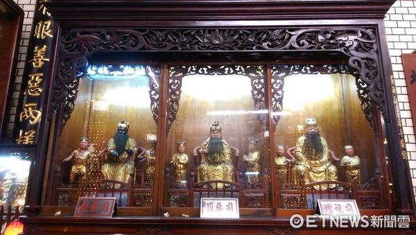 新竹都城隍廟,六司。(圖/記者陳俊宏攝)