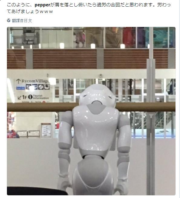 Pepper機器人過勞死還拍「棺材照」 網笑:日本企業太可怕(圖/翻攝自推特@arintyu34)