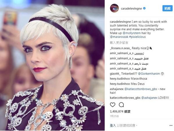 ▲▼ 名模卡拉迪樂芬妮就以其獨特的眉毛著稱。(圖/翻攝自Instagram/caradelevingne)