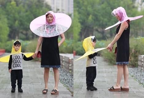 ▲▼ 「UFO雨傘帽」恥度大增!(圖/翻攝自淘寶)