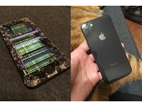 全台首摔!iPhone 8放口袋騎車「正面爆炸」 苦主:屍體找很久