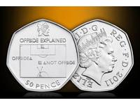 倫敦奧運紀念幣走實用風 圖像解釋「越位」定義