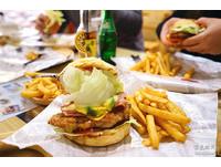 宜蘭美式漢堡店 有超大花牆、兒童遊樂區!