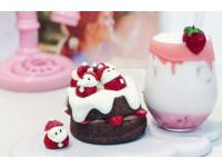 「草莓雪人」呆萌爬上戚風蛋糕 台中12月限定聖誕蛋糕爆紅