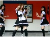 高中生扮女僕跳舞超萌 夭壽!這是男校!