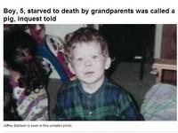 餓到剩9公斤! 加國男童被狠心祖父母當豬養慘遭虐死